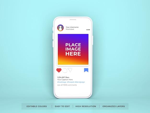 Instagram social media mockup-sjabloon