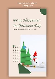 Instagram verhalen 3d vrolijk kerstfeest