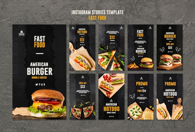 Instagram-verhalen over fastfood