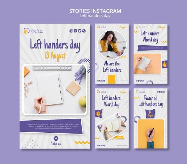 Instagram-verhalen over linkshandigen