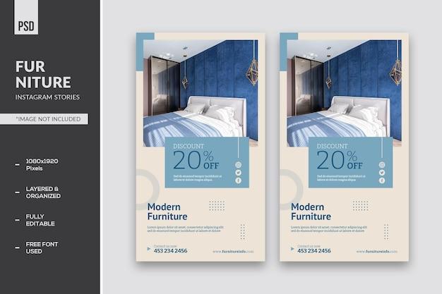 Instagram-verhalen over meubels