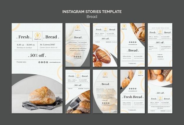 Instagram verhalen sjabloon met brood