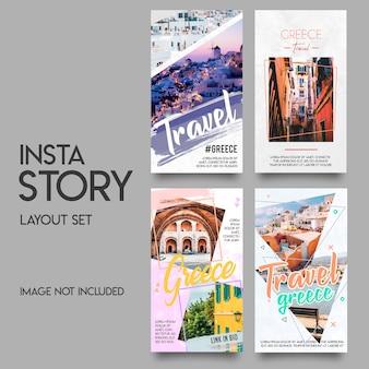 Instagram verhalen sjabloon set
