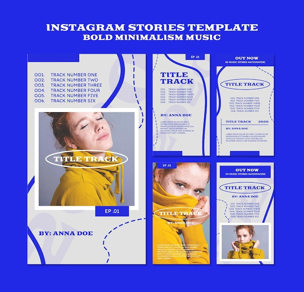 Instagram verhalen sjabloon voor muzikant