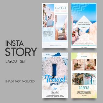 Instagram verhalen sjabloon zomer set