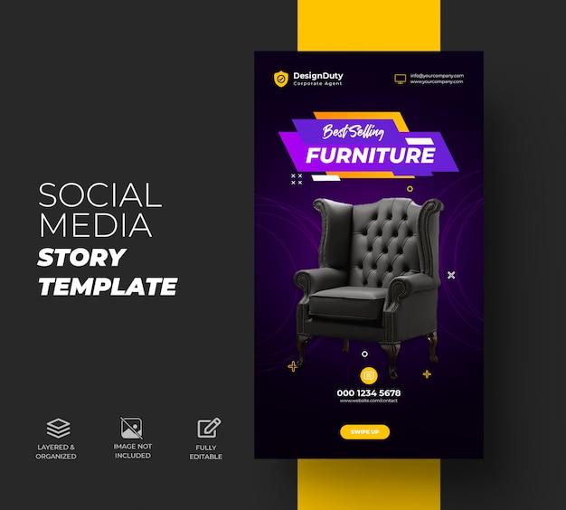Instagram-verhalen voor exclusieve sjabloon voor meubelverkoop