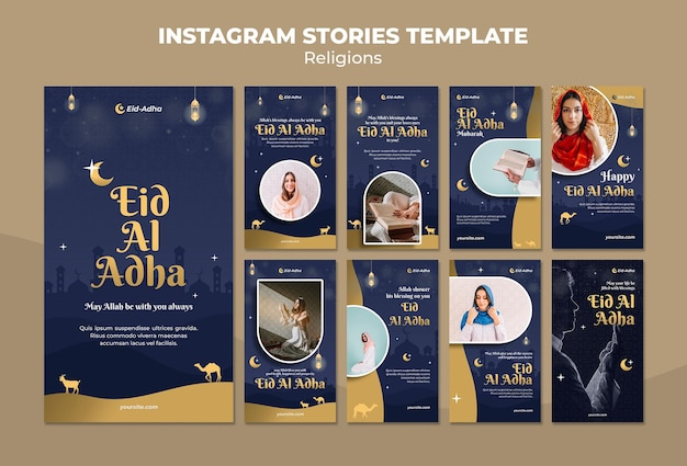 Instagram-verhalencollectie voor eid al adha-viering