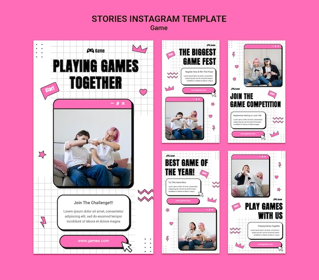Instagram-verhalenverzameling voor het spelen van videogames