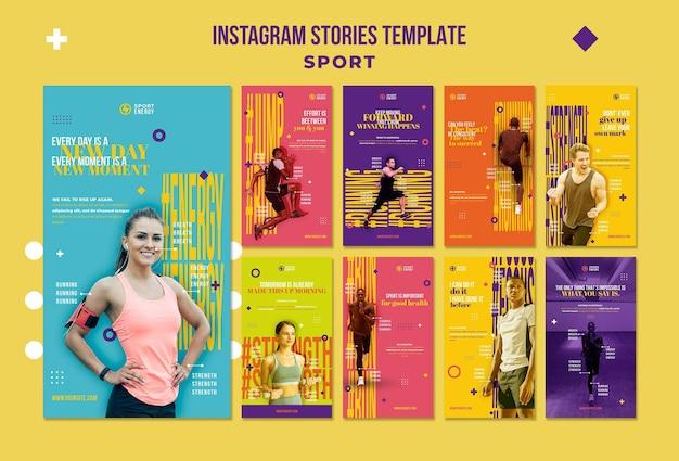 Instagram-verhalenverzameling voor sport met motiverende citaten