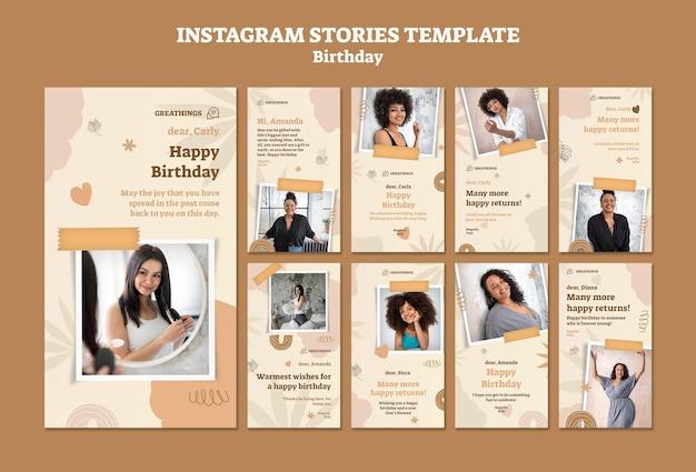 Instagram-verhalenverzameling voor verjaardagsviering