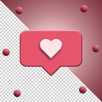 Instagram zoals meldingspictogram 3d