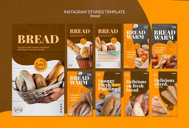 Instagramverhalen met brood