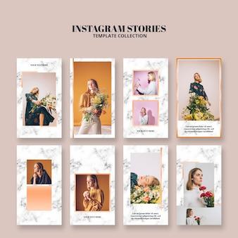 Instagramverhalen sjablonen voor levensstijl