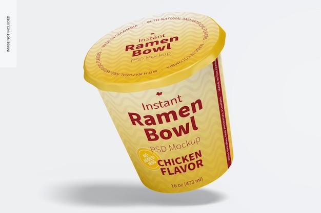 Instant ramen bowl mockup, leunend