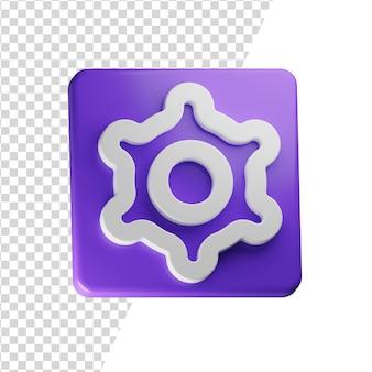Instellingen 3d pictogram rendering geïsoleerd concept