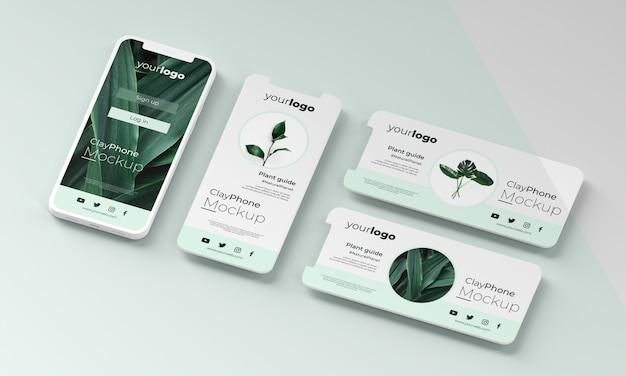 Interface mock-up op telefoonscherm