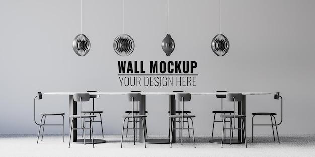 Interieur coffeeshop muurmodel
