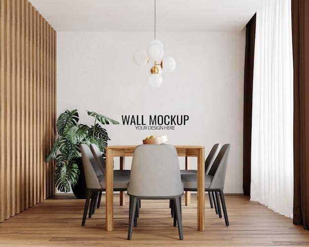 Interieur eetkamer muur mockup