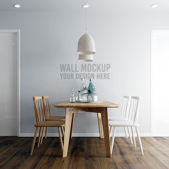 Interieur eetkamer wallpaper achtergrond mockup