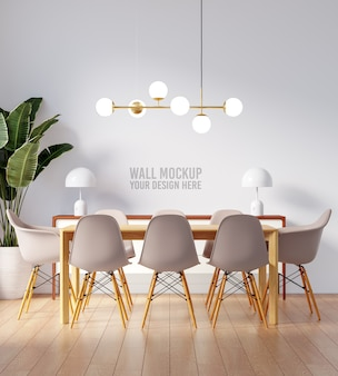 Interieur eetkamer wallpaper mockup