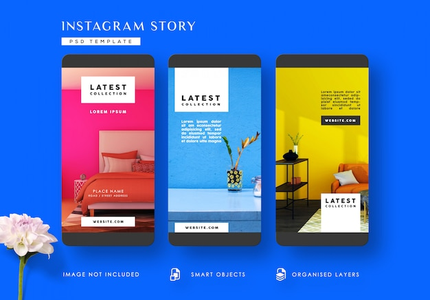 Interieur instagram verhalen sjabloon