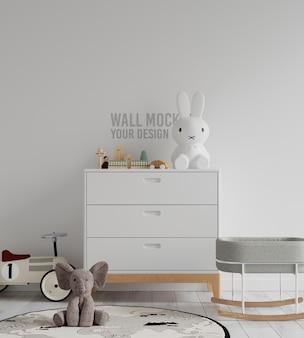 Interieur kinderen speelkamer muur mockup