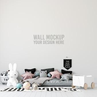 Interieur kinderkamer wallpaper mockup