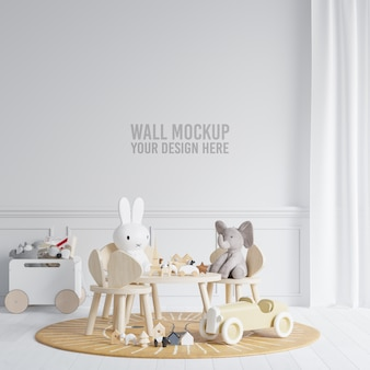 Interieur kinderkamer wallpaper mockup