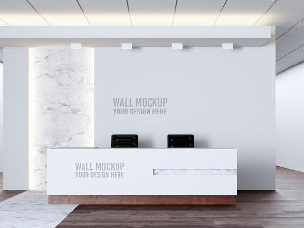 Interieur medische kliniek muur mockup