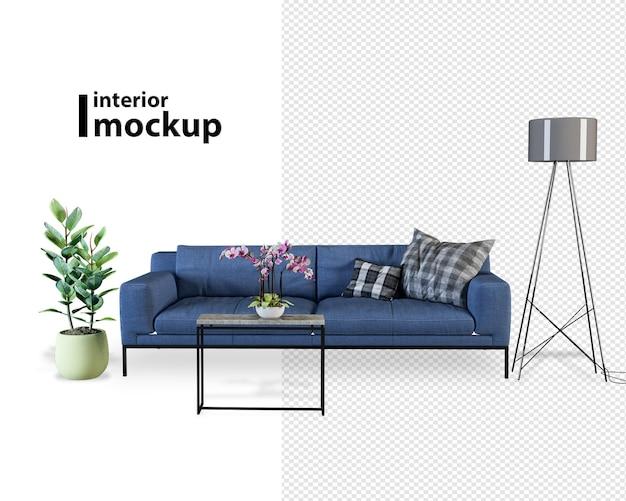 Interieur mockup 3d-rendering