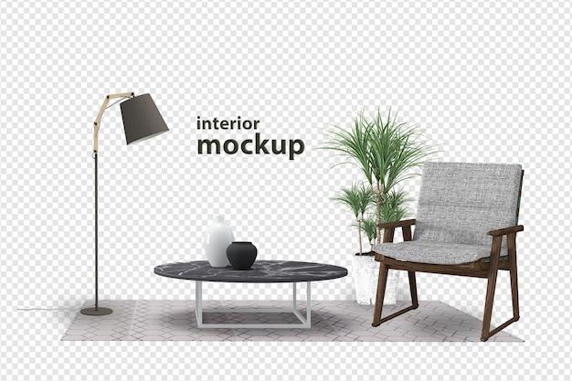 Interieur mockup in 3d-rendering