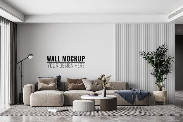 Interieur moderne woonkamer muur mockup