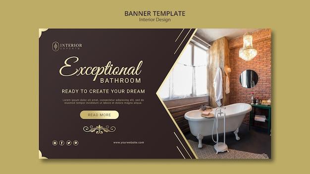 Interieur ontwerp banner concept