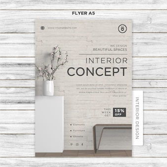 Interieur ontwerpsjabloon folder