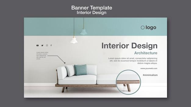 Interieur ontwerpsjabloon voor spandoek