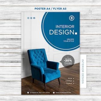 Interieur poster ontwerpsjabloon