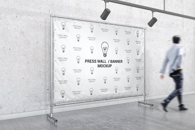 Interieur standaard banner mockup