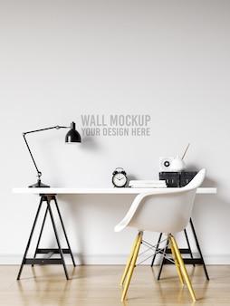 Interieur werkruimte muur mockup