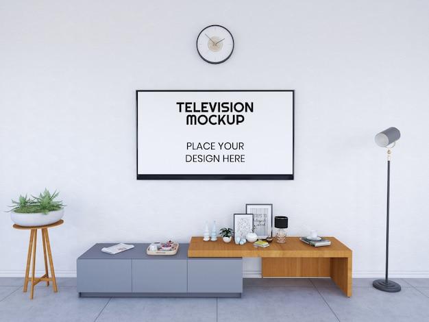 Interieur woonkamer en televisiemodel