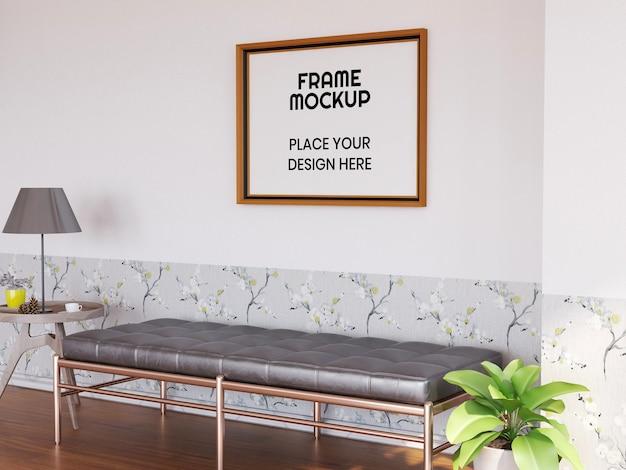 Interieur woonkamer fotolijstmodel