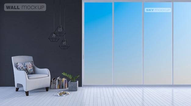 Interieur woonkamer mockup Premium Psd