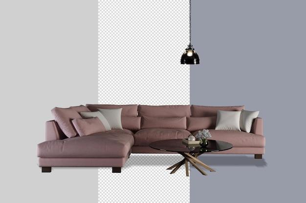 Interieurdecoratie in 3d-renderingontwerp