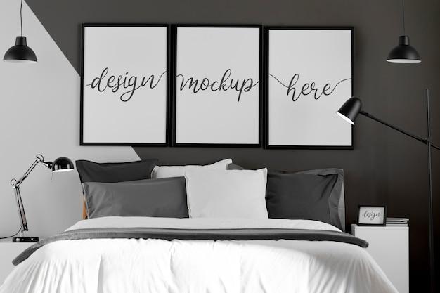 Interieurontwerp met mock-up frames