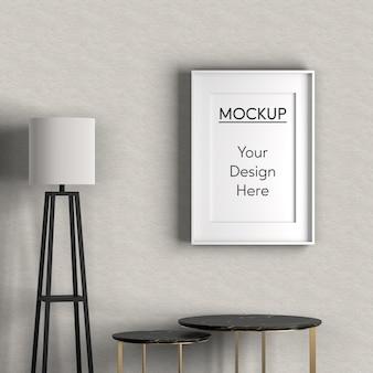 Interior design con tavoli neri