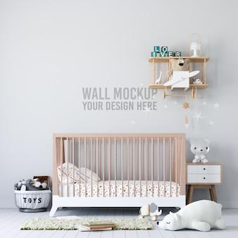 Interior kids room maqueta de papel tapiz