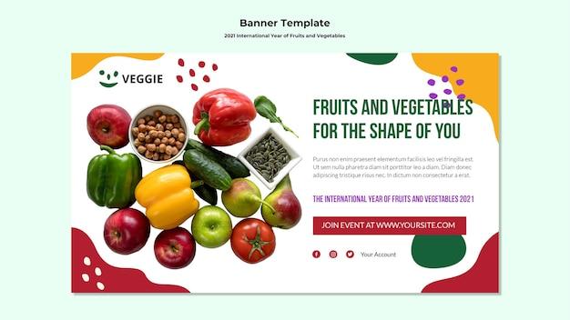 Internationaal jaar van groenten en fruit banner