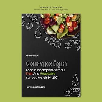 Internationaal jaar van groenten en fruit poster