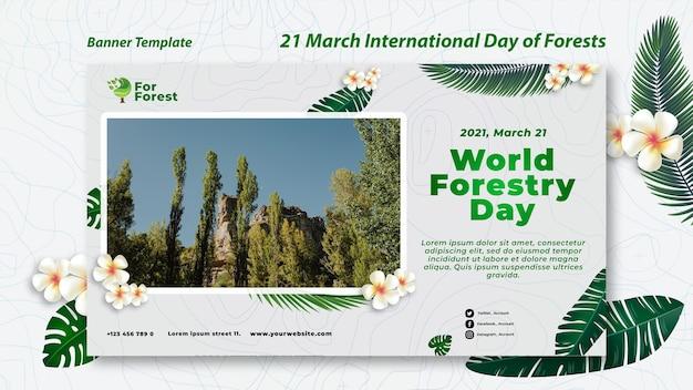 Internationale dag van bossen banner
