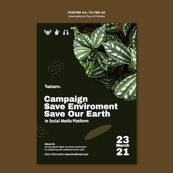 Internationale dag van de bossen poster
