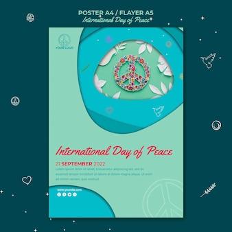 Internationale dag van de vrede-flyer